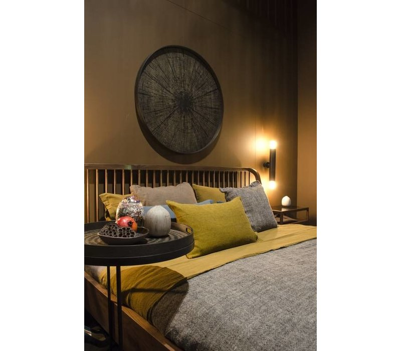 Spindle bed walnoot matras 160cm