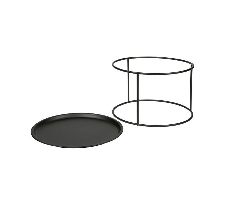Ivar bijzettafel met los dienblad zwart