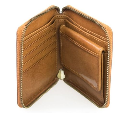 O My Bag Sonny vierkante portefeuille - stromboli leather cognac