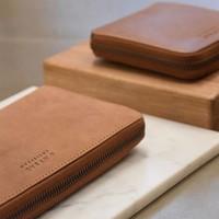 Sonny vierkante portefeuille - stromboli leather cognac