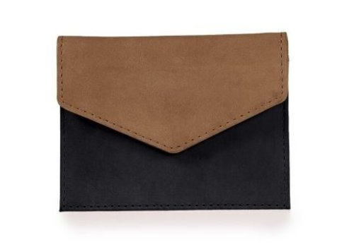 O My Bag Envelope kaarthouder - eco classic black/camel