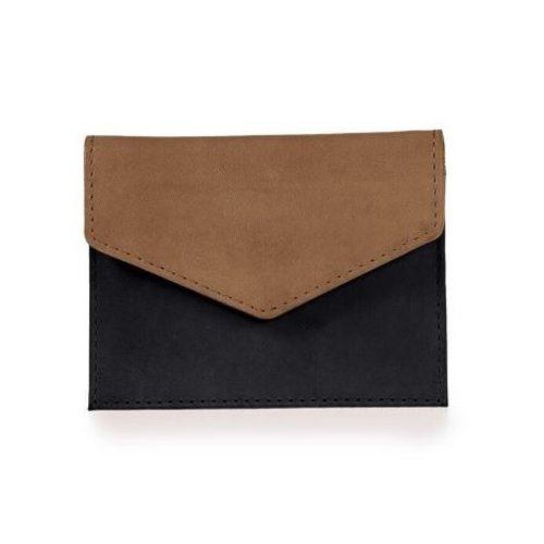 O My Bag Envelope kaarthouder - eco classic black/camel