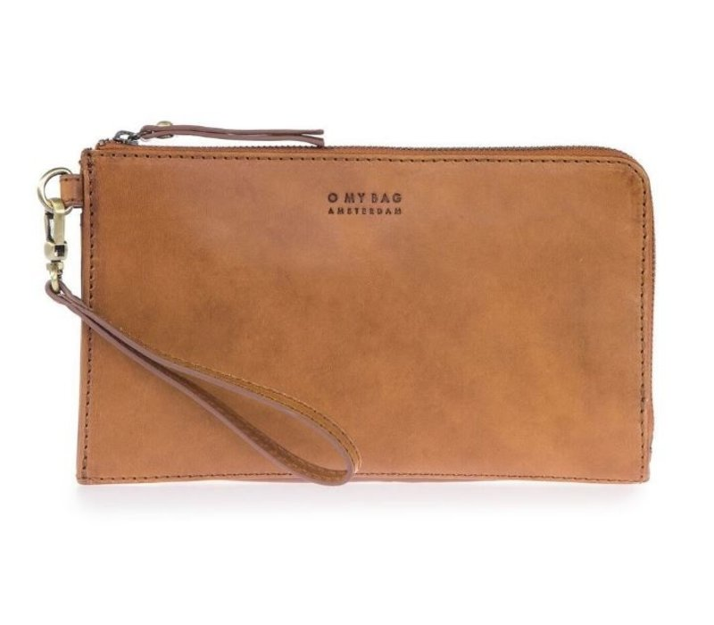 Travel wallet reisportefeuille - classic leather cognac