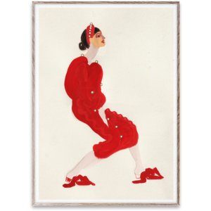 Paper Collective Red with Pearls 30x40cm poster