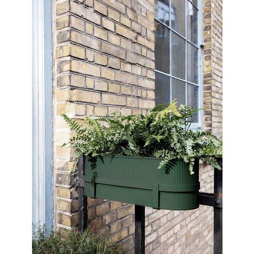 Ferm Living Bau Balcony plantenbak donkergroen