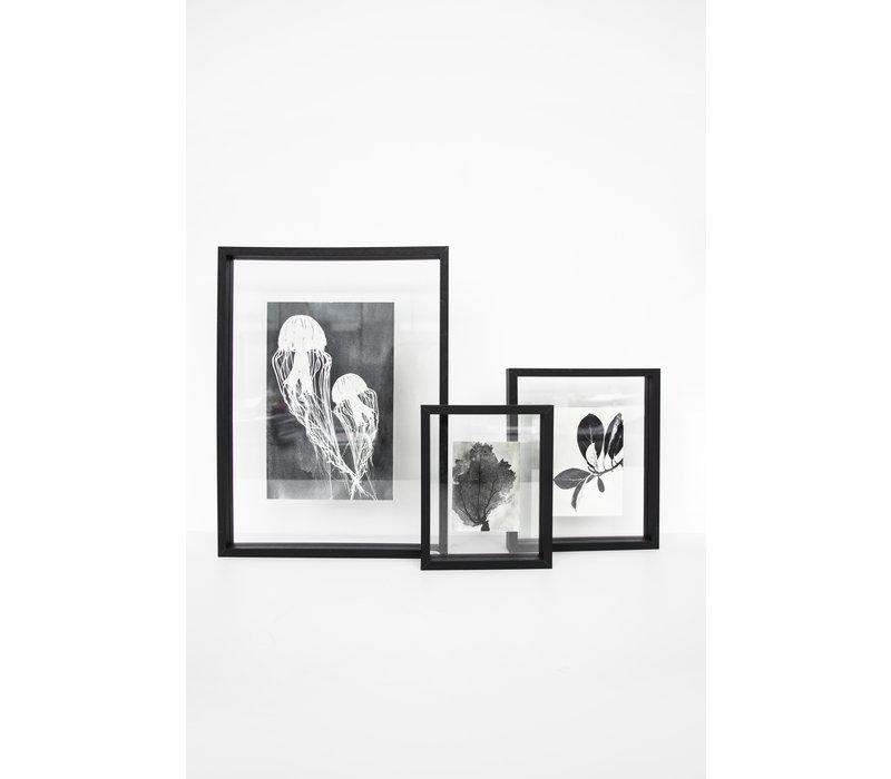 Fotoframe doorzichtig zwart large