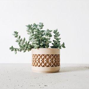 Minimum Design Aztek bloempot natuur Ø5,5cm