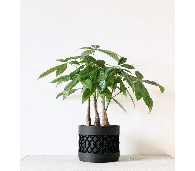 Aztek bloempot zwart Ø12cm