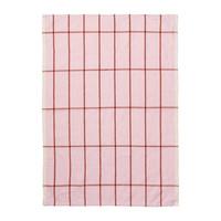 Hale keukenhanddoek roze/roest linnen