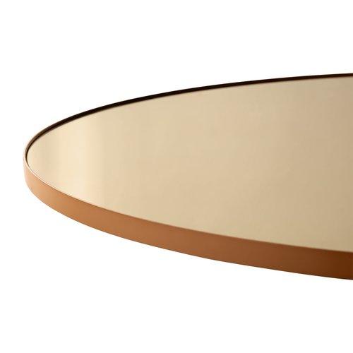 AYTM Circum ronde spiegel amber getint glas