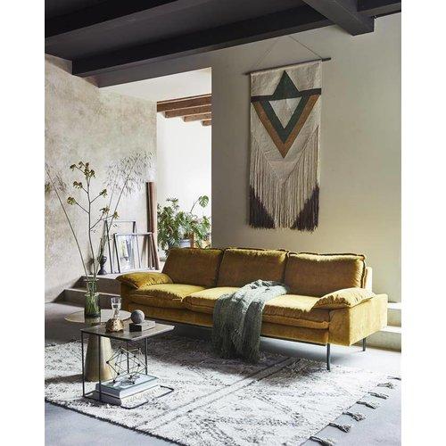 HK Living Handgeweven wollen berber tapijt TOONZAALMODEL