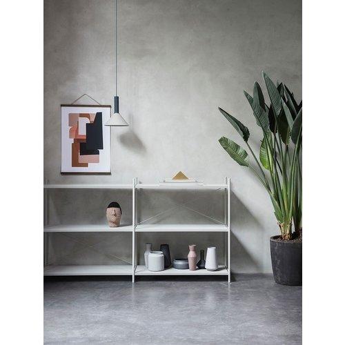 Ferm Living Sculpt vaas - Corset  Roest