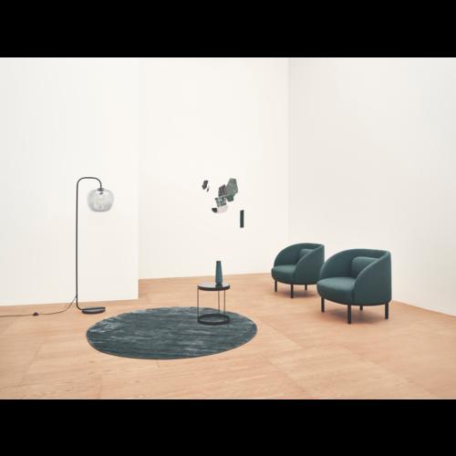 Bolia Drum bijzettafel grijs glas 60 cm