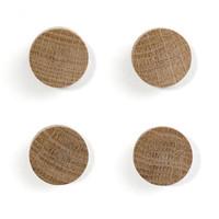 Wall wood magneten eik - set van 4