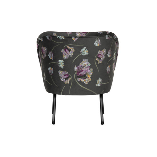 BePureHome Vogue fauteuil fluweel rococo aloë