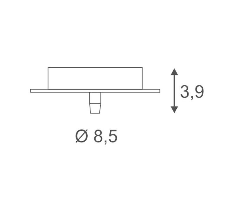 SLV plafondkap , 1 uitgang rond wit incl. trekontl.
