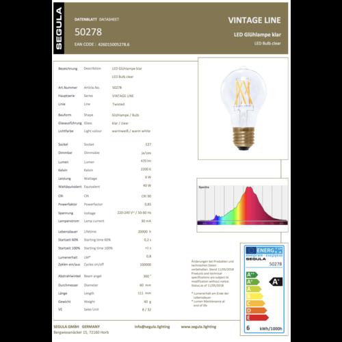 Segula LED gloeilamp klaar 470lm E27 6W