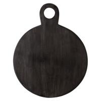 Rond dienblad zwart acacia
