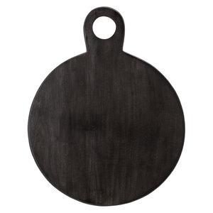 Bloomingville Rond dienblad zwart acacia
