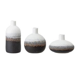 Bloomingville Vaas meerkleurig keramiek - set van 3