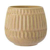Bloempot geel aardewerk Ø 16,5