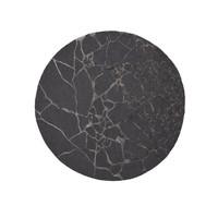 Marmo rond tapijt charcoal Ø 250