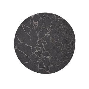 Linie Design Marmo rond tapijt charcoal Ø 250