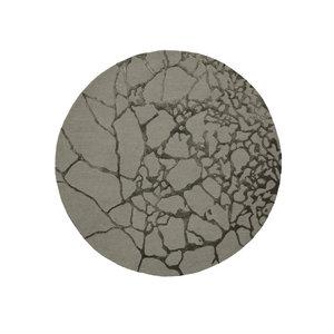 Linie Design Marmo rond tapijt groen Ø 250