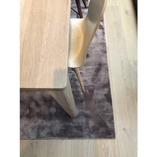 Linie Design Lucens rond en rechthoekig tapijt petrol