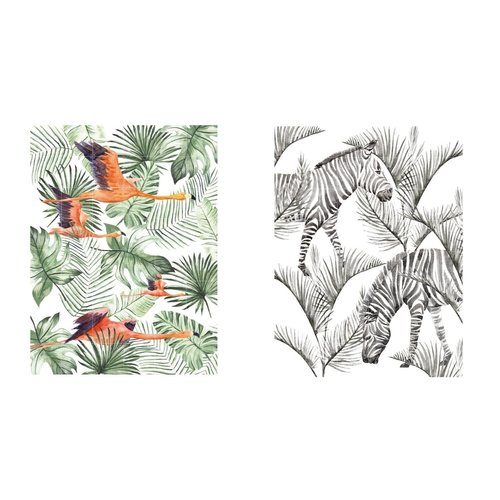 IXXI IXXI Wanddecoratie - Flamingo Flight & Zebra Palm