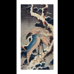 IXXI IXXI Wanddecoratie - Two cranes on a snowy pine branch
