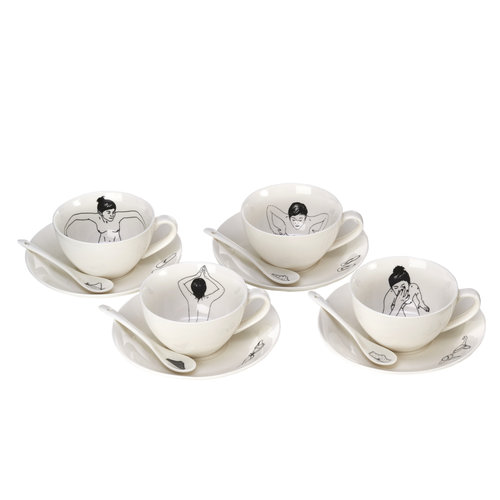 Pols Potten Undressed koffieservies - set van 4