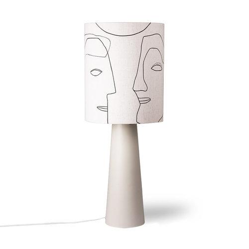 HK Living Lampenkap linnen gezichten