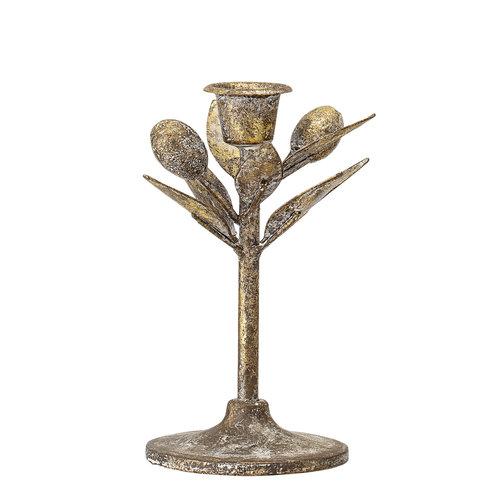 Bloomingville Kaarshouder metaal brons Ø 8 x H15 cm