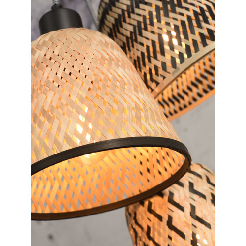 Good & Mojo Kalimantan hanglamp 7 lampenkappen