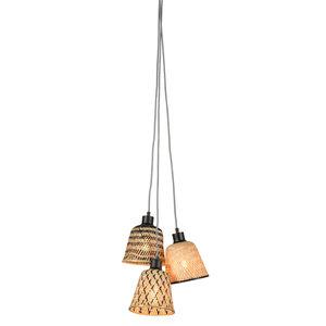 Good & Mojo Kalimantan hanglamp 3 lampenkappen