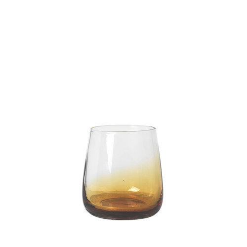 Broste Copenhagen Amber waterglas doorzichtig/karamel