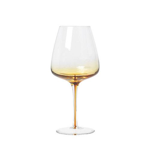 Broste Copenhagen Amber rodewijnglas doorzichtig/karamel