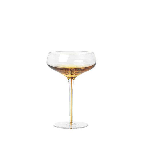 Broste Copenhagen Amber cocktailglas doorzichtig/karamel