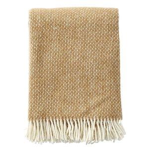 Klippan Freckles plaid amber lamswol 130 x 200