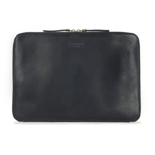 "O My Bag Laptophoes ""13 met rits eco classic zwart"