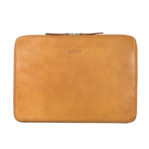 "O My Bag Laptophoes ""15 met rits eco classic cognac"