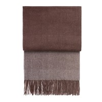 Horizon plaid plum/cognac 130 x 200