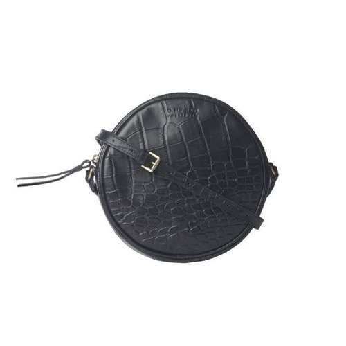 O My Bag Luna handtas - classic leather zwarte croco
