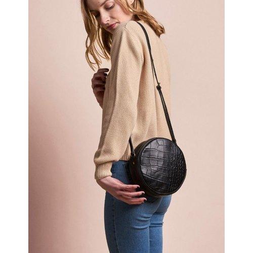 O My Bag Luna handtas - classic leather zwarte croco