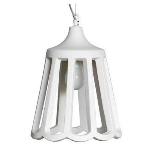Karman Le pupette hanglamp keramiek wit