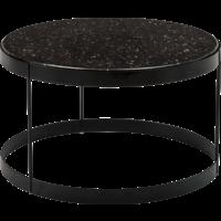 Drum bijzettafel zwart kwarts 60 cm