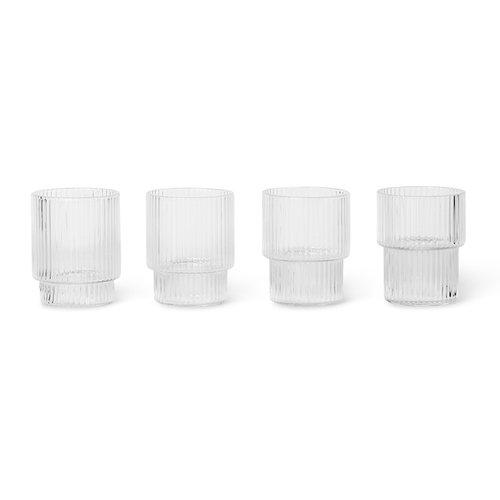 Ferm Living Ripple kleine glazen set van 4