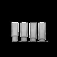 Ripple longdrinkglazen smoked grey set van 4