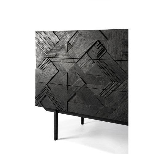 Ethnicraft Graphic commode teakhout -  3 lades